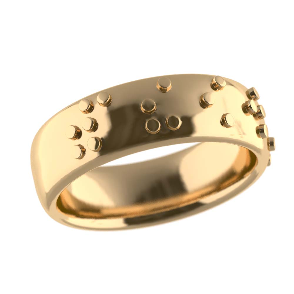 personalised jewellery braille promise ring